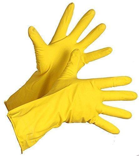 Unnati -  Gardening Tools - Reusable Rubber Gloves, Flower Cutter/Scissor & Garden Tool Wooden Handle (3pcs-Hand Cultivator, Small Trowel, Garden Fork) - Unnati Enterprises