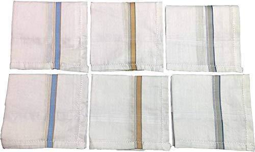 Men's Cotton Handkerchief (White, 12 pcs) - Unnati Enterprises