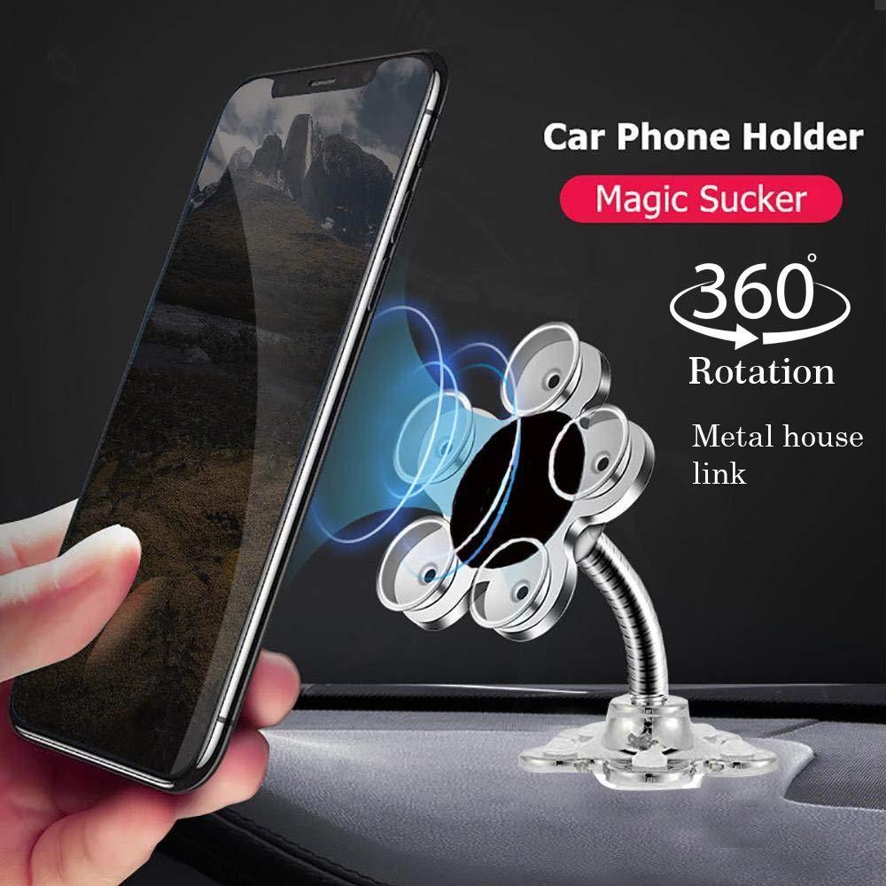 360 Rotatable Flower Shape Cellphone Holder Car & Mount Sucker Stand (Multicolored) - Unnati Enterprises