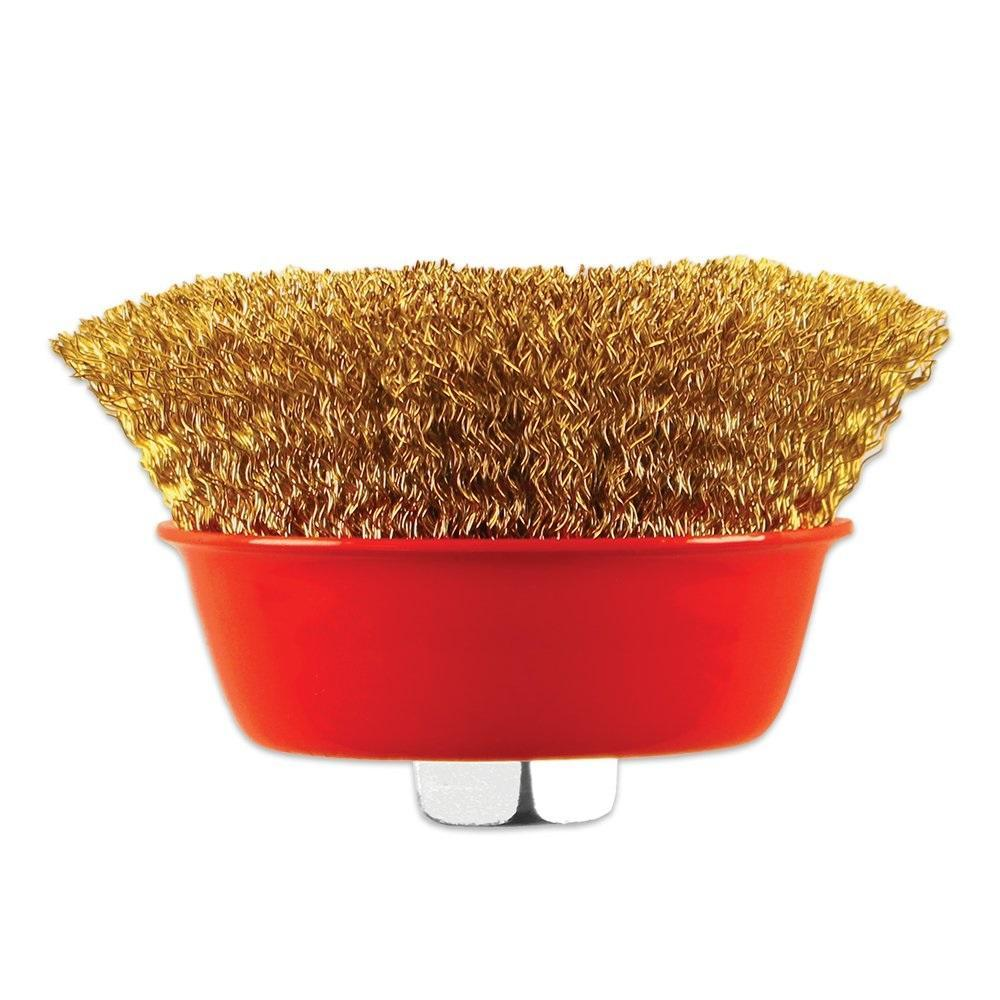 Wire Wheel Cup Brush (Gold) - Unnati Enterprises