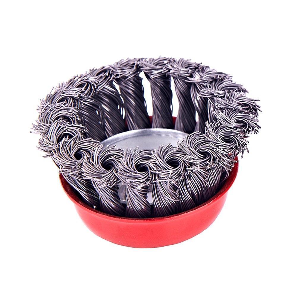 Wire Wheel Cup Brush (Black) - Unnati Enterprises