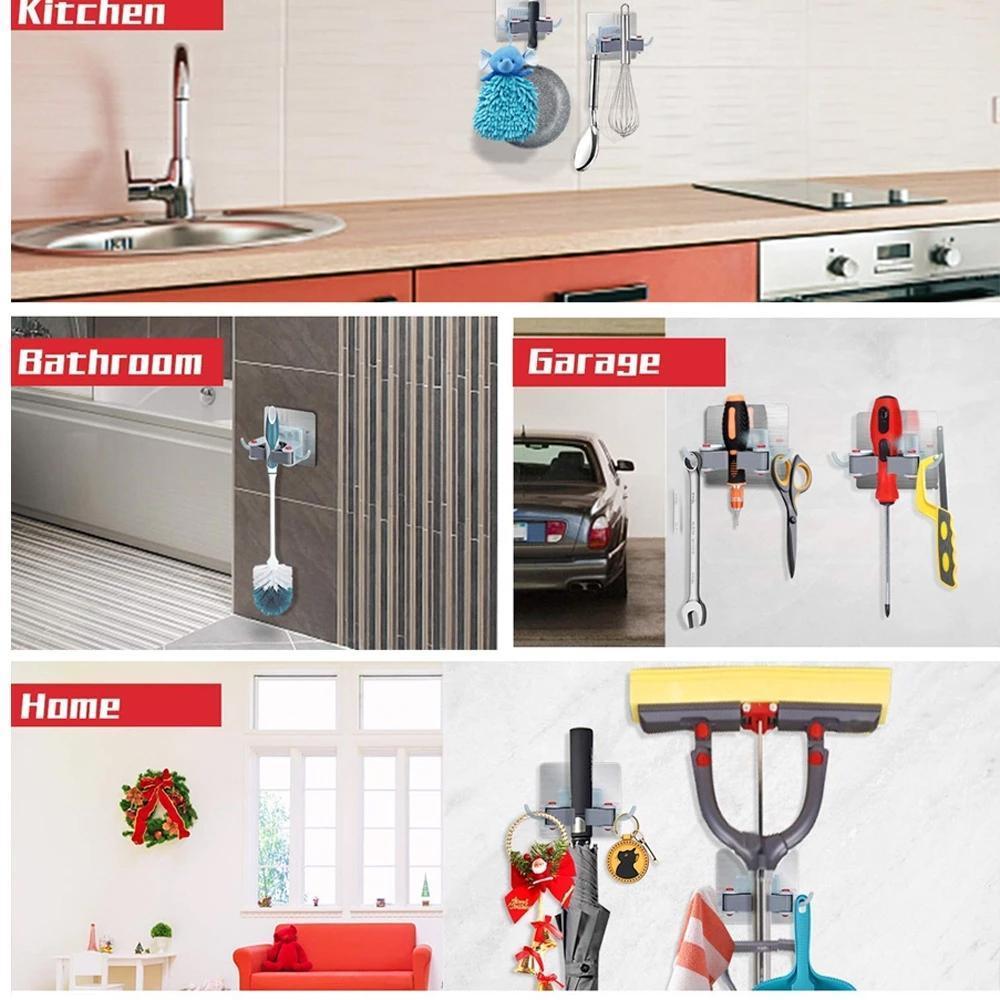 Wall Mounted Mop & Broom Hanger Holder (1-Layer) - Unnati Enterprises
