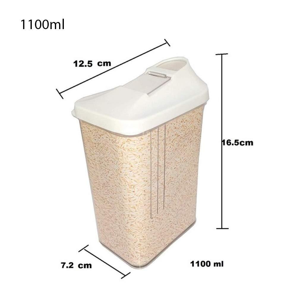 Plastic Transparent Cans, Jars Storage Bottles, Storage Box (1100ml, 1pc) - Unnati Enterprises