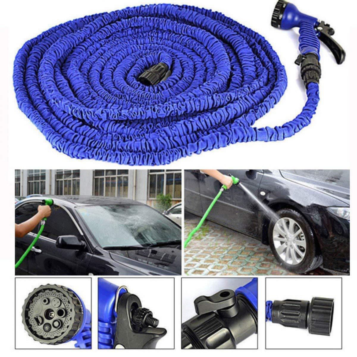 50 Ft Expandable Hose Pipe Nozzle For Garden Wash Car Bike With Spray Gun - Unnati Enterprises