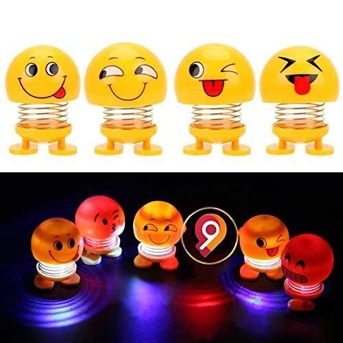 Emoticon Figure Smiling Lighting Face Spring Doll - Unnati Enterprises