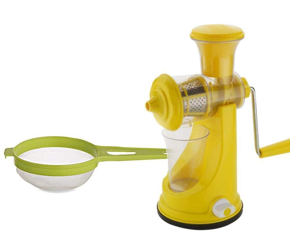 Unnati -  Kitchen combo -Manual Fruit Juicer with Plastic Big Tea Strainer Sieve - Unnati Enterprises