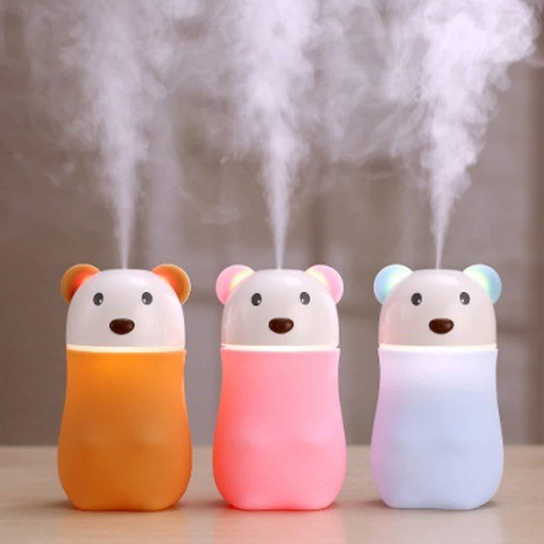USB Lovely Bear Humidifier, Air Diffuser Freshener with LED Night Light - Unnati Enterprises