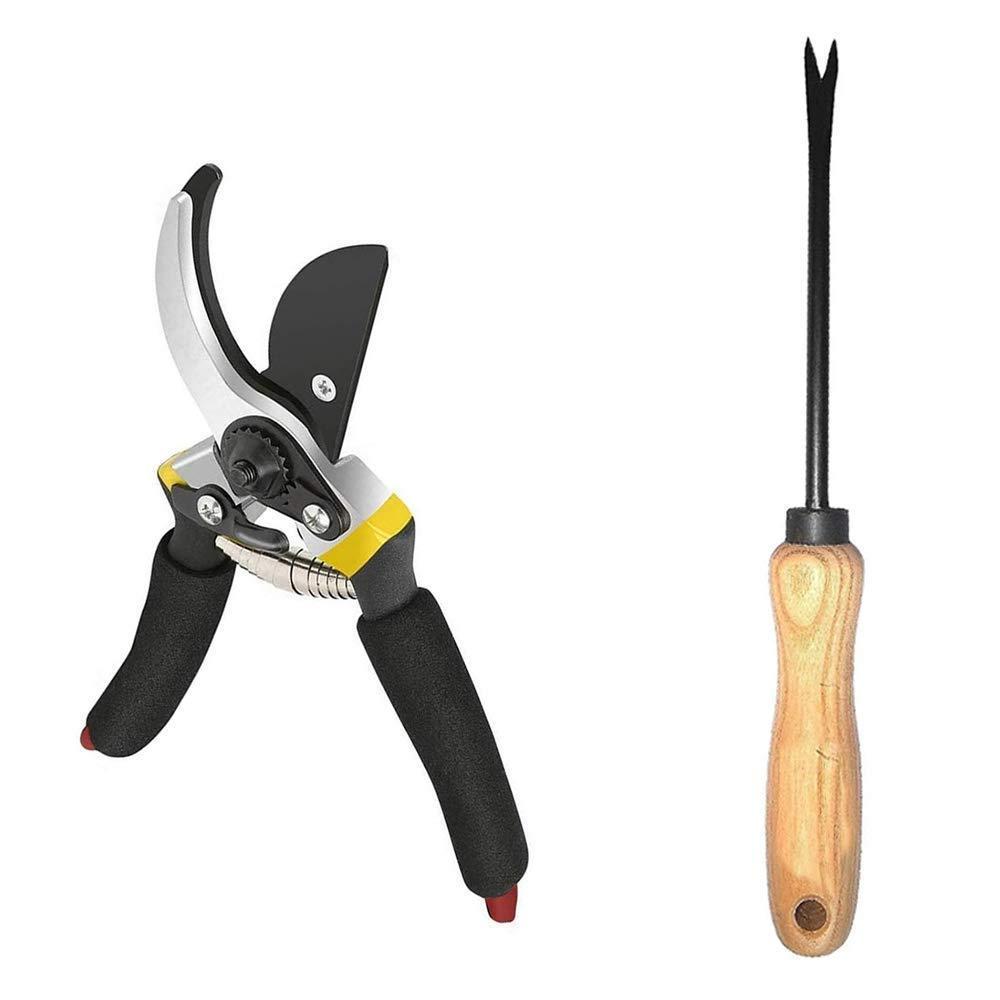 Unnati -  Gardening Combo - Premium Flower Cutter (Hedge Shears) & Hand Weeder Straight - Unnati Enterprises