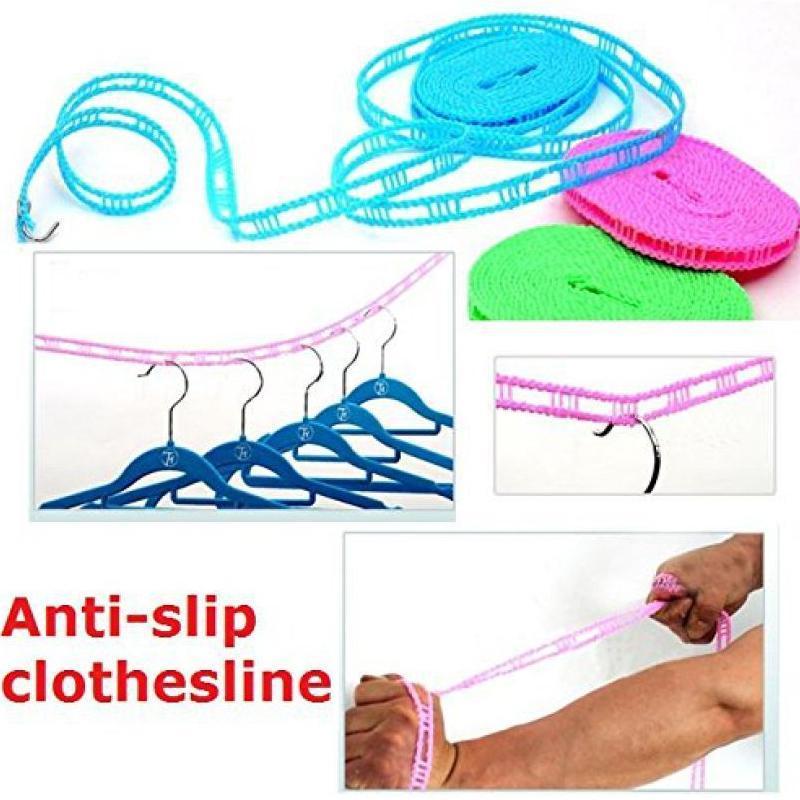 Clothesline Drying Nylon Rope with Hooks - Unnati Enterprises