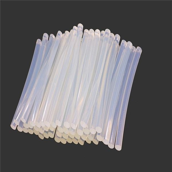 Transparent HOT MELT Glue Sticks for DIY and Craft Work Big 10 mm 8 inch  (Set of 40) - Unnati Enterprises