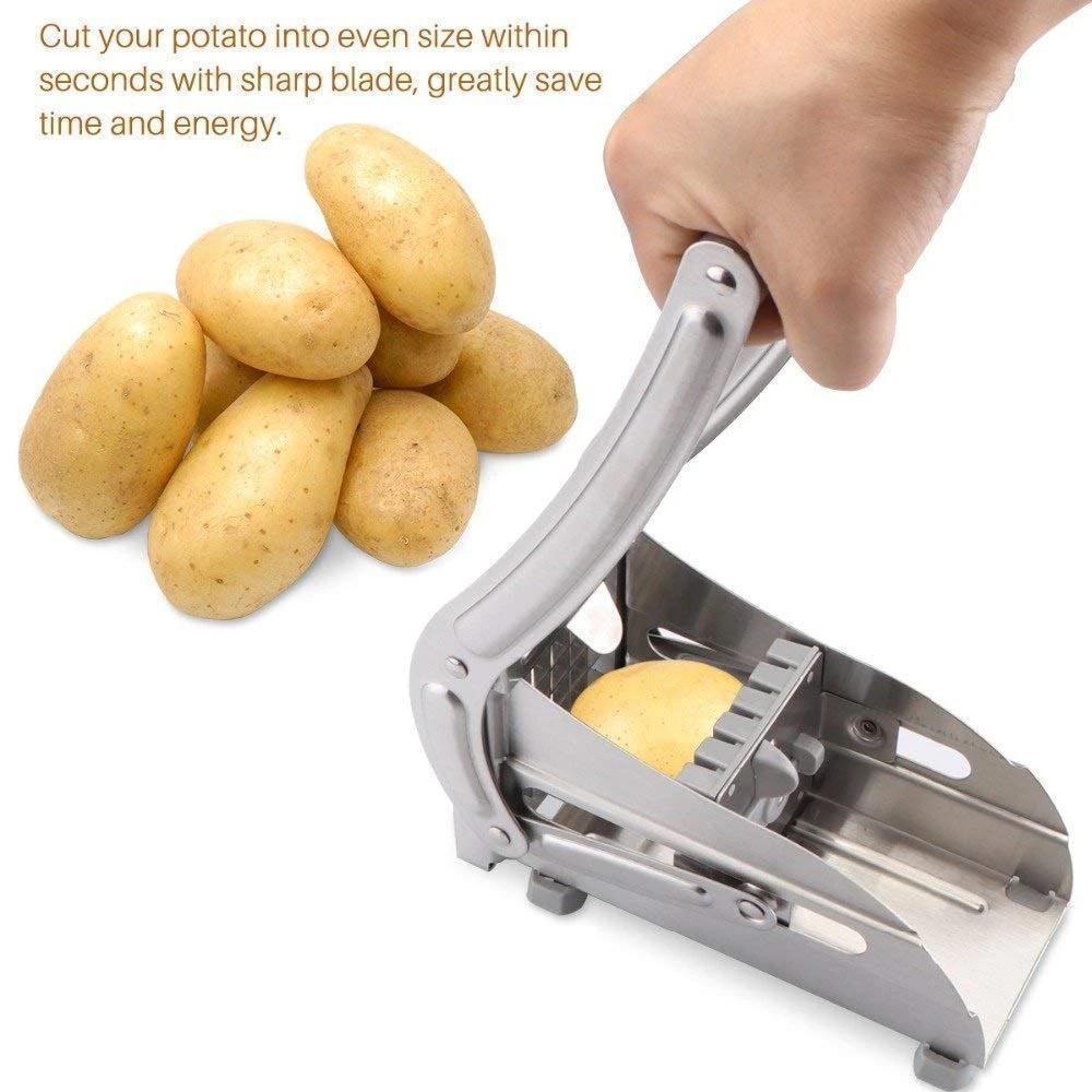 Stainless Steel French Fries Potato Chips Strip Cutter Machine - Unnati Enterprises