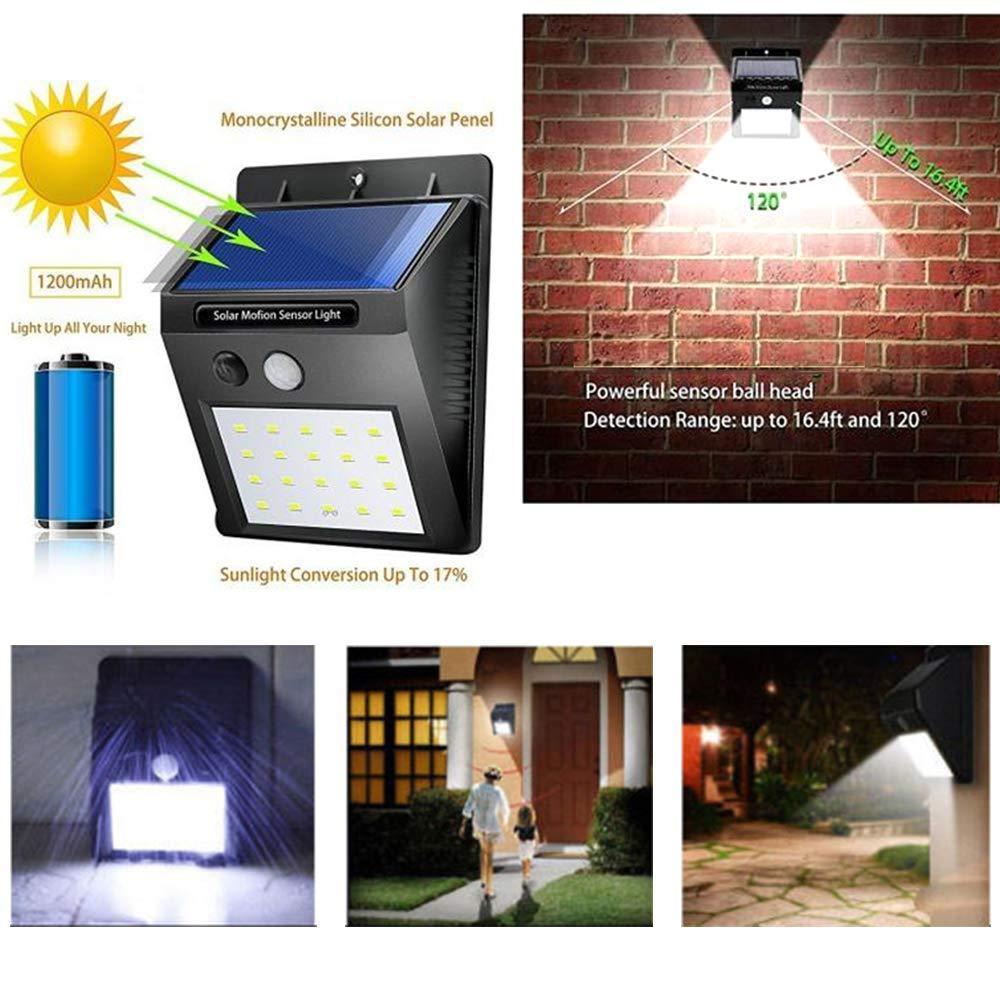 Solar Security LED Night Light for Home Outdoor/Garden Wall (Black) (20-LED Lights) - Unnati Enterprises