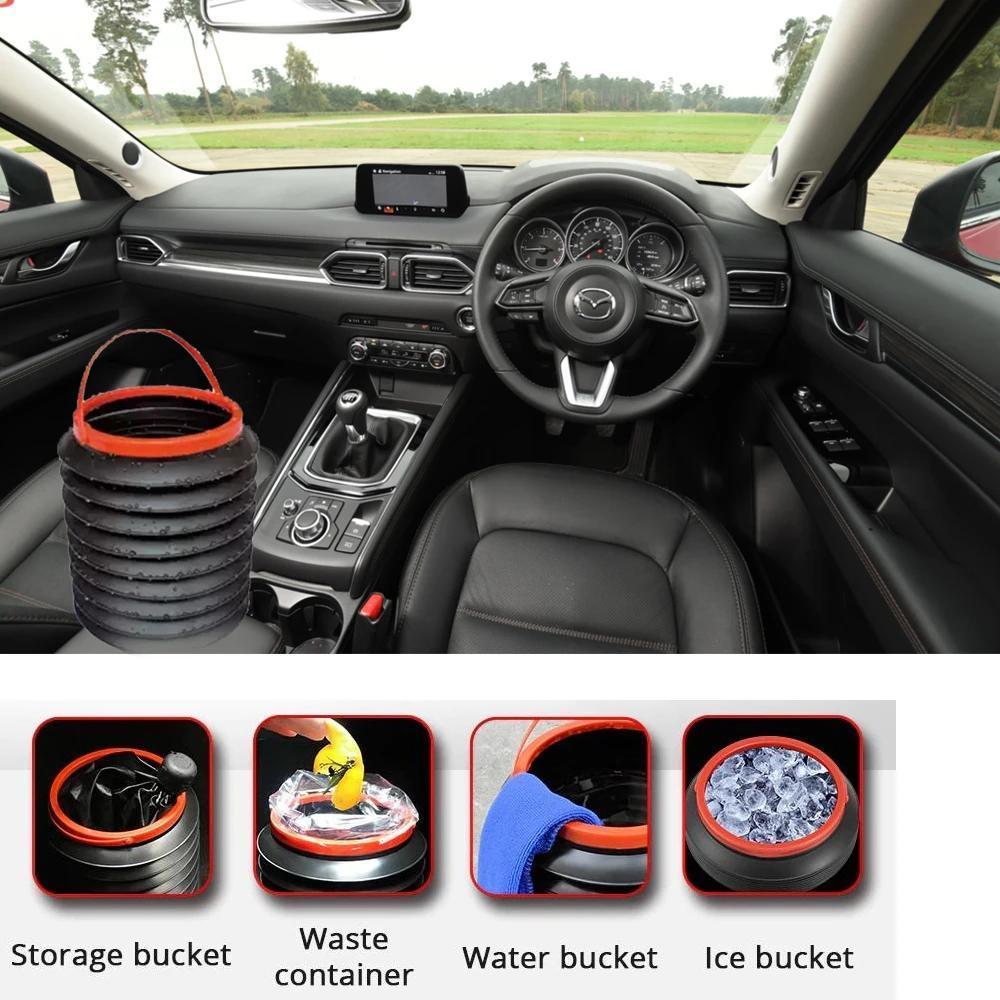 4L Foldable Car Trash Can Storage Organiser - Unnati Enterprises