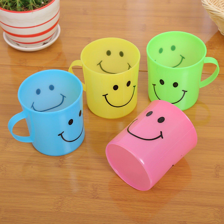 Unbreakable Plastic Coffee-Milk Fancy Smiley Mug - Unnati Enterprises