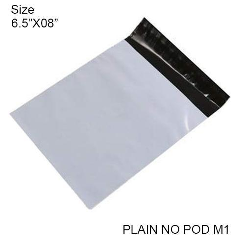 Tamper Proof Courier Bags(6.5X08 PLAIN NO POD M1) - 100pcs - Unnati Enterprises
