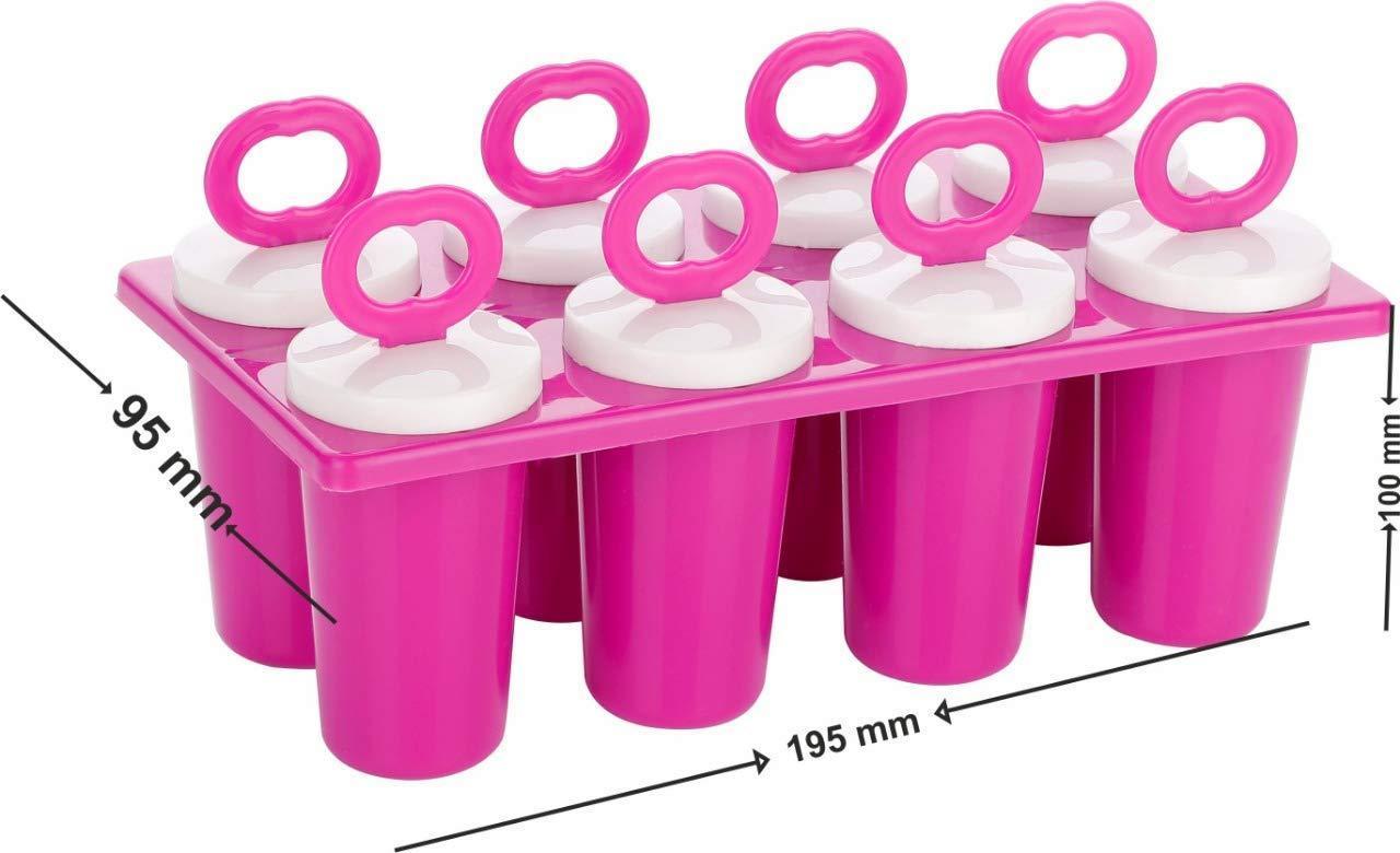 Plastic Ice Tray Candy Maker Kulfi Maker Popsicle Mould Set - Unnati Enterprises
