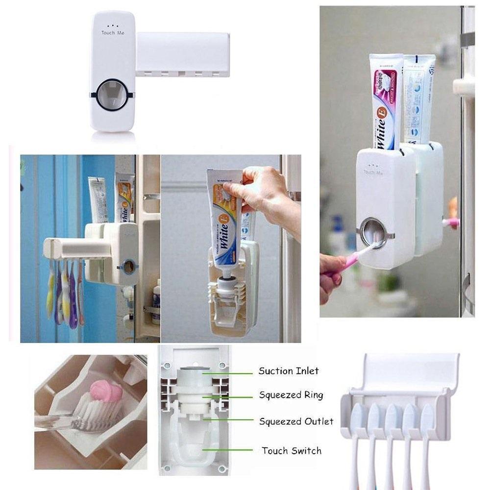 Toothpaste Dispenser & Tooth Brush Holder - Unnati Enterprises