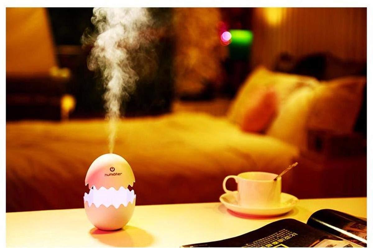 Funny USB Mini Egg humidiier with Colorful Night Light egg tumbler Aroma Diffuser for Car Home Office Mist Maker egg air purifier LED Light - Unnati Enterprises