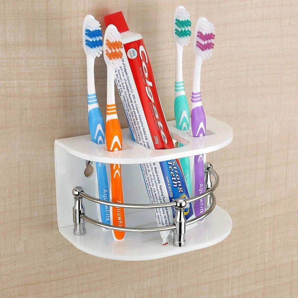 Multi-Purpose Tooth Brush Holder/Tooth Paste Stand   (H-107) - Unnati Enterprises