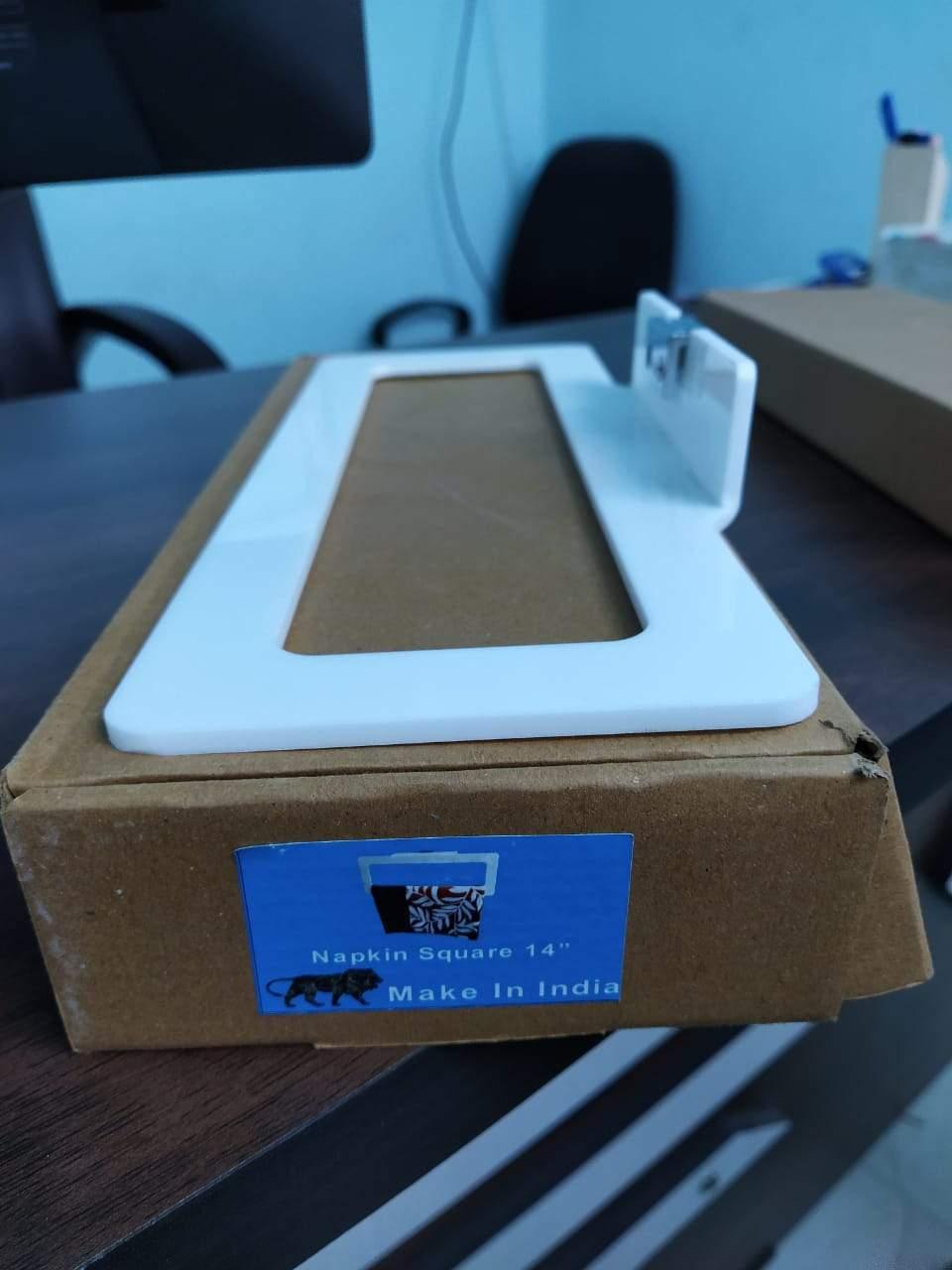 Kitchen/Bathroom Square Napkin Toilet Paper Holder - 14 inch - Unnati Enterprises