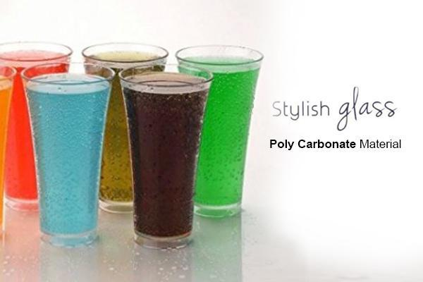 Stylish look Juicy Glass, Transparent Glasses Set 300ml (6pcs) - Unnati Enterprises