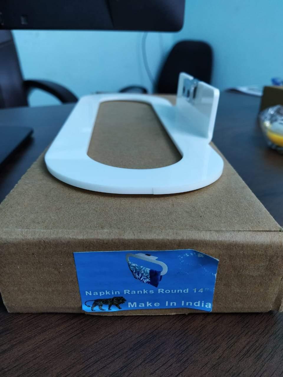 Kitchen/Bathroom Round Napkin Toilet Paper Holder - 14 inch - Unnati Enterprises
