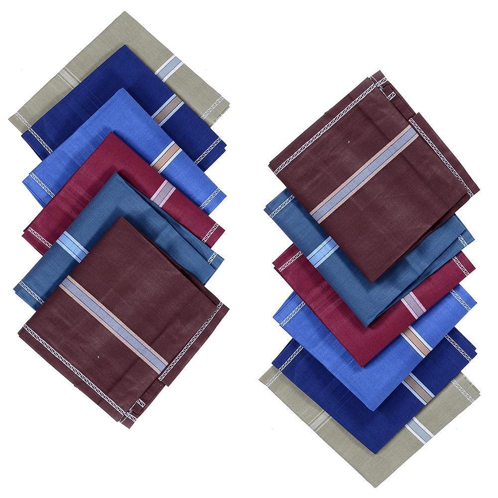 Men's Cotton Handkerchief (Multicolor, 12 pcs) - Unnati Enterprises