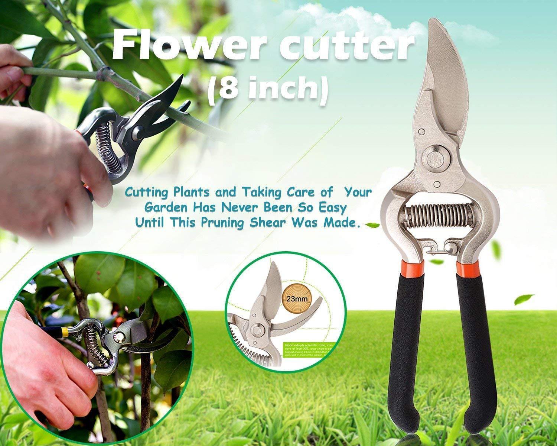 Unnati -  Garden Combo - Garden Shears Pruners Scissor (8-inch) & Hand Weeder Straight - Unnati Enterprises