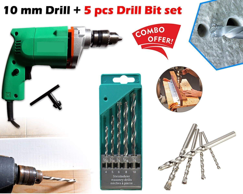 Unnati -  Metal Electric Drill Machine Set (Multicolor, 6-Pieces) - Unnati Enterprises