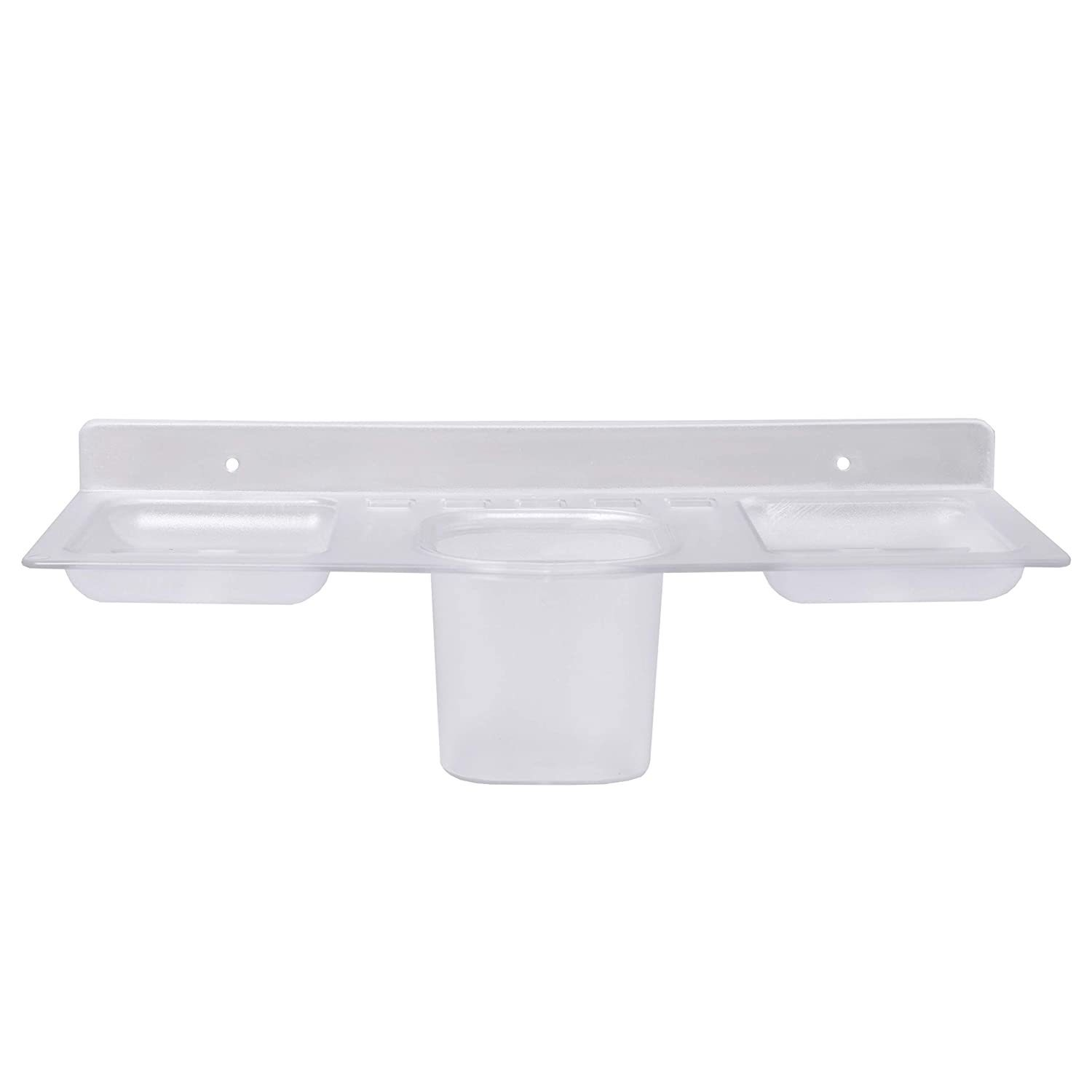 ABS Plastic 4 in 1 Multipurpose Kitchen/Bathroom Shelf/Paste-Brush Stand/Soap Stand/Tumbler Holder/Bathroom Accessories - Unnati Enterprises