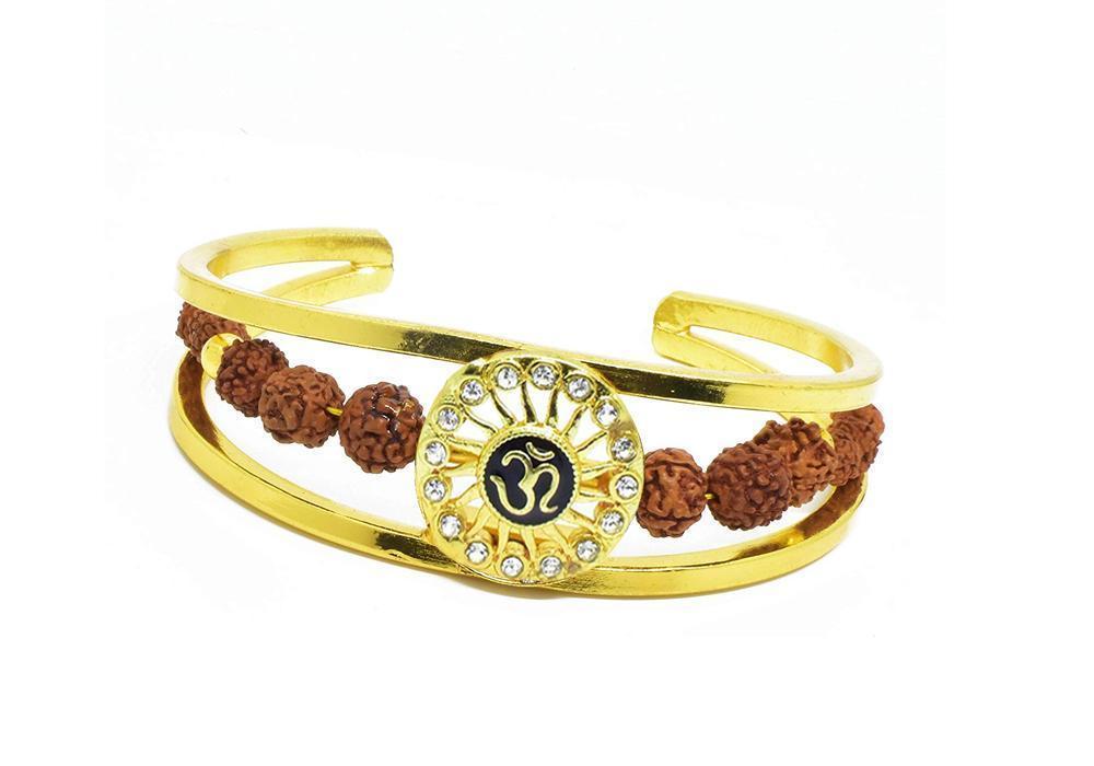 Unique & Stylish Brass Gold Plated Bracelet for Men / Women (RK03) - Unnati Enterprises