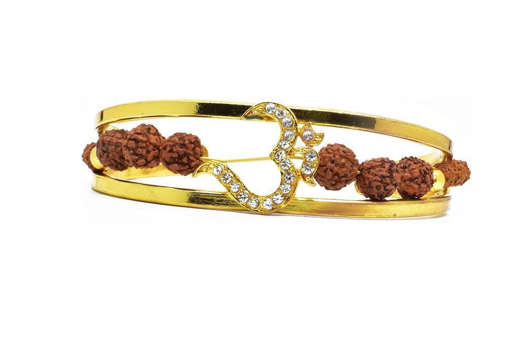 Unique & Stylish Brass Gold Plated Bracelet for Men / Women (RK04) - Unnati Enterprises