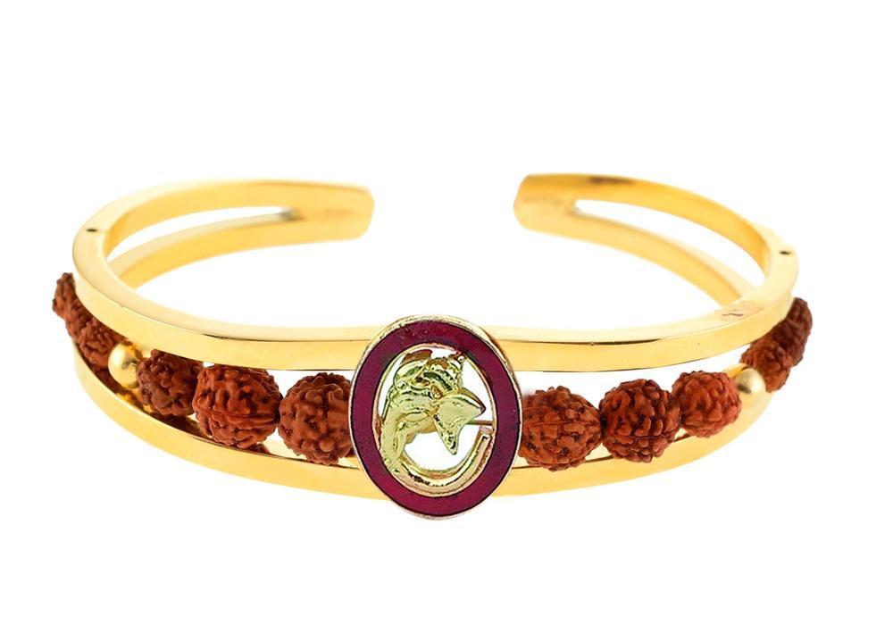 Unique & Stylish Brass Gold Plated Bracelet for Men / Women (RK06) - Unnati Enterprises