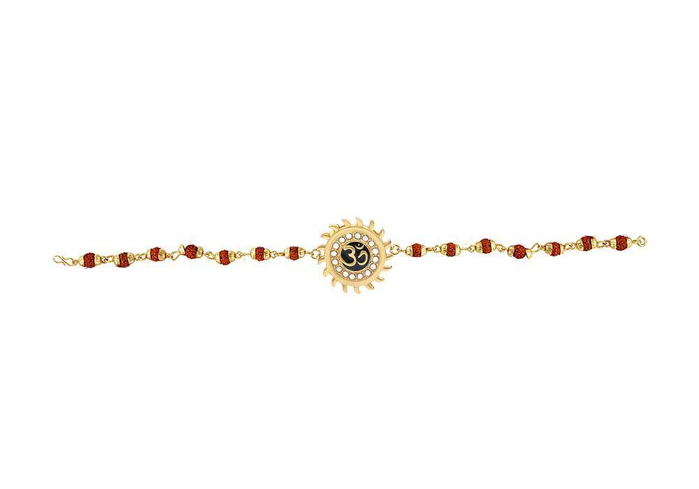 Unique & Stylish Brass Gold Plated Bracelet for Men / Women (RK07) - Unnati Enterprises