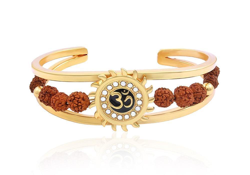 Unique & Stylish Brass Gold Plated Bracelet for Men / Women (RK01) - Unnati Enterprises
