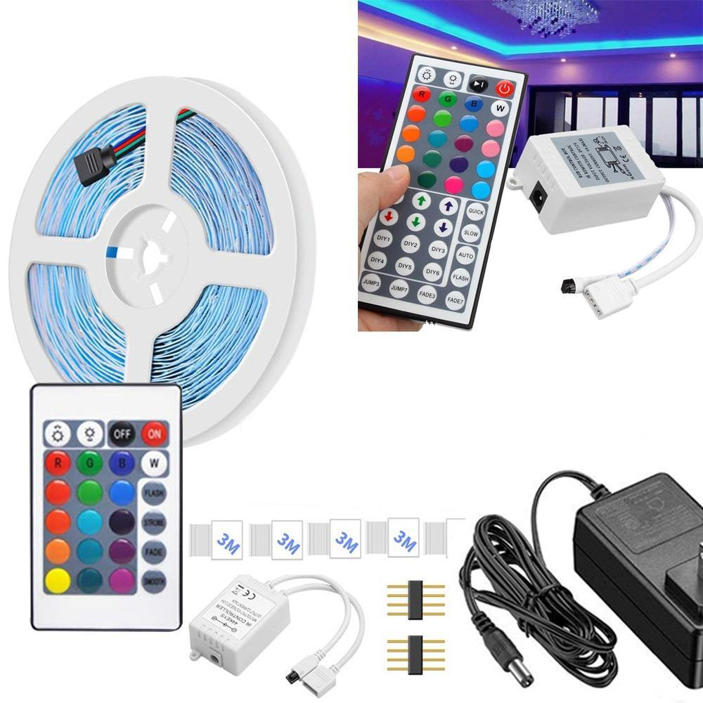Waterproof RGB Remote Control Color Changing LED Strip Light (5-Meter) - Unnati Enterprises