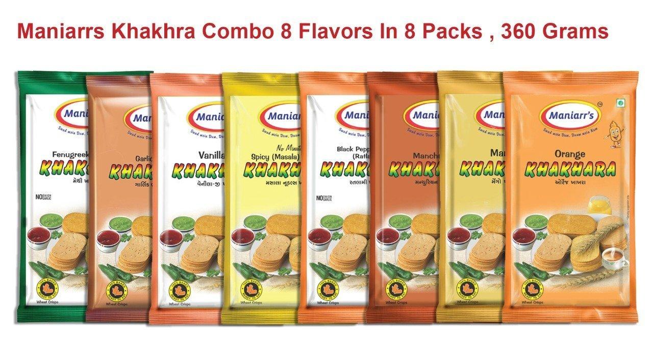 A4 Mix flavour khakhra (Pack of 8) - Unnati Enterprises