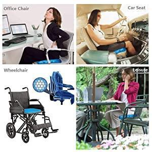 Cushion Seat Flex Pillow, Gel Orthopedic Seat Cushion Pad (Egg Sitter) - Unnati Enterprises