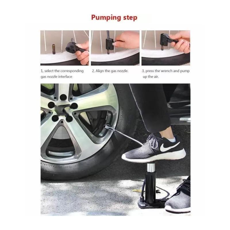 Mini Foot Pump Inflator For  Bike and car - Unnati Enterprises