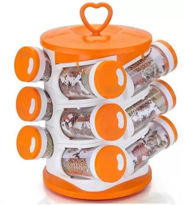 Spice jar Set - Food Grade Plastic 12pcs Spice jar - Unnati Enterprises