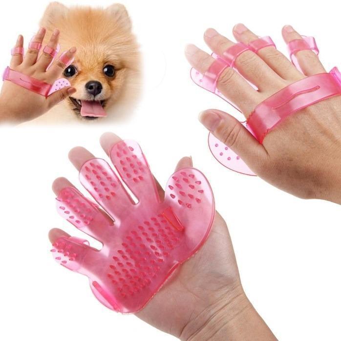 Rubber Pet Cleaning Massaging Grooming Glove Brush - Unnati Enterprises