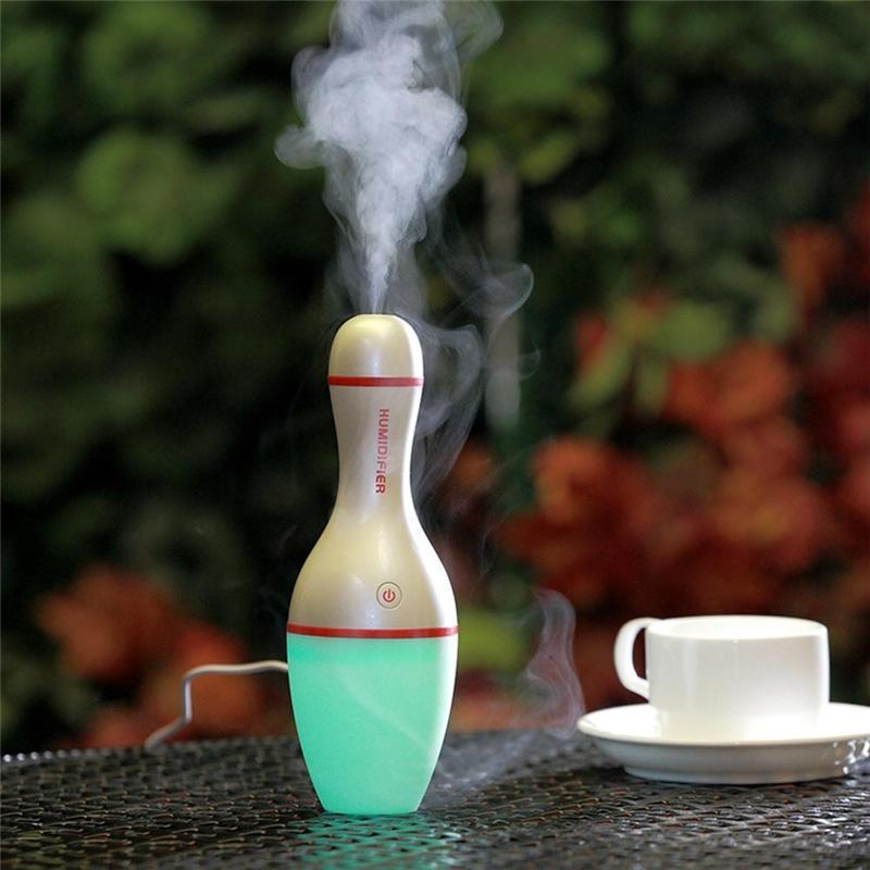 Air Humidifier USB 5V Bowling Bottle Led Lamp Light Air Diffuser Mist Maker Aromatherapy 150ML Ultrasonic Diffuse for SPA Home - Unnati Enterprises